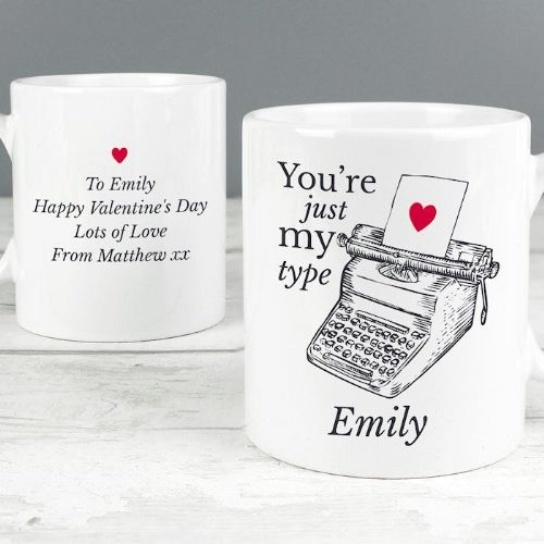 Just My Type Valentines Mug